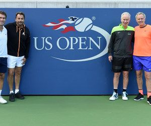 Champions doubles final ...  September 9, 2017 - 2017 US Open Champions Doubles Champions John McEnroe and Patrick McEnroe and finalists Pat Cash and Henri Leconte.