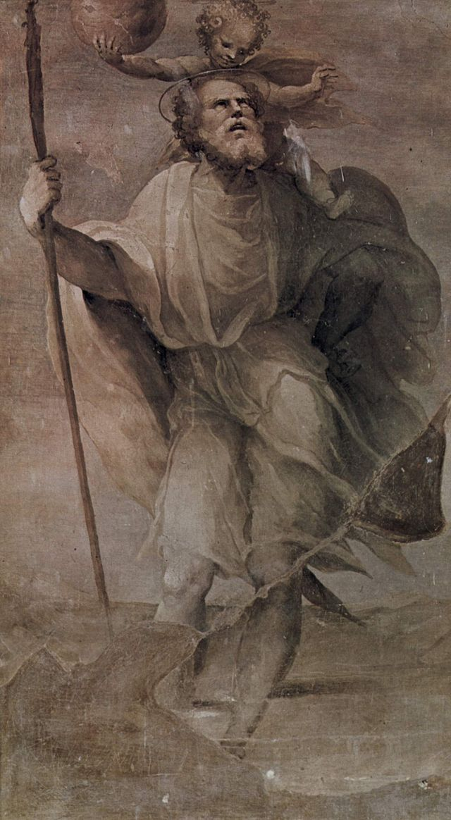 Saint Christopher - domenico beccafumi