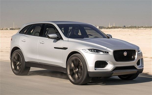 Images of the Jaguar C-X17 concept car, which previews a new SUV model