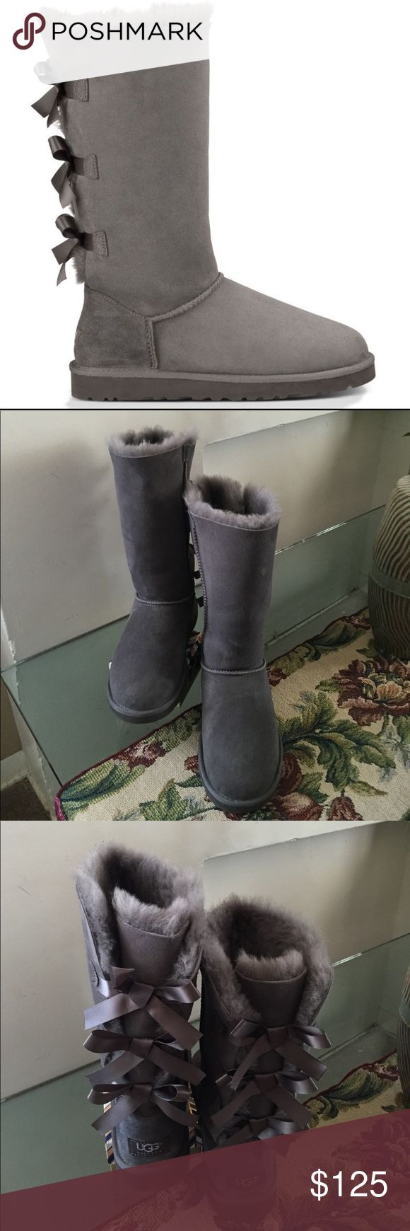 NEW UGG TALL BAILEY TRIPLET BOW New. Without box original ugg. Big kid's size 4/women's size 6 UGG Shoes Winter & Rain Boots