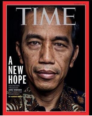 A new hope: Indonesia's new president, Jokowi Widodo, on the cover of Time magazine.