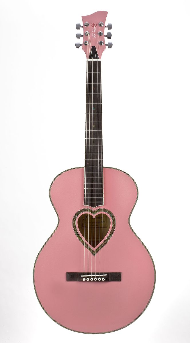 A pink guitar; wish I would have the time and $$$ to take some lessons for the acoustic fender I got for Christmas 3 yrs ago!!