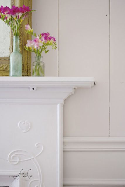 FRENCH COUNTRY COTTAGE: SW Gorgeous White on wall and SW  Incredible White below SW white on mantle