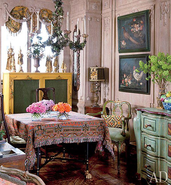 Iris Apfel home: Dining Rooms, Boho Chic, Irisapfel, Interiors Design, Ny Apartment, Style Icons, Bohemian Style, Iris Apfel, Icons Iris