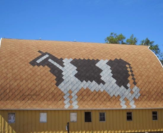 Cow Roof Art Sherriff Goslin Company Art Loc Shingles