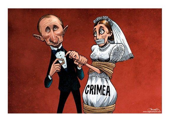 Russian Wedding Putin style.  Some would call it rape.