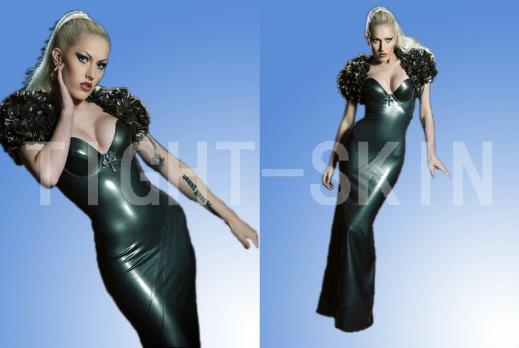 Sexy latex dress w/o cape party long dresses 100% natural rubber(China (Mainland))