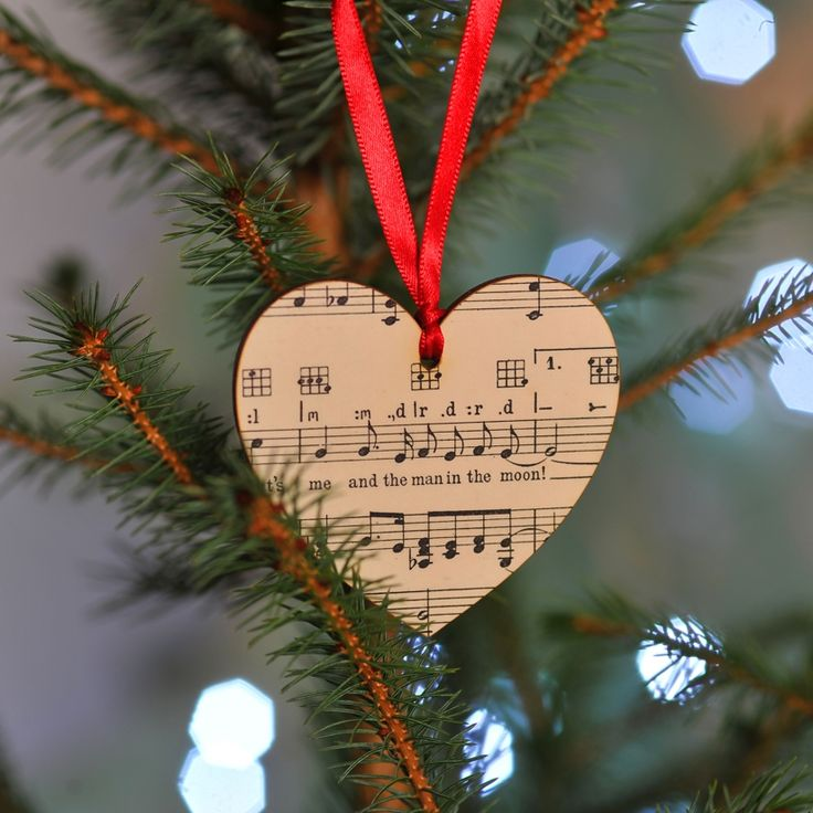 Music Christmas tree personalised decoration - Christmas in #HTFSTYLE