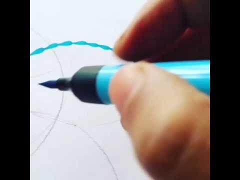 Camlin paint pen mark making for a mandal https://artaurabynagashree.wordpress.com/ #paintpen #mandala