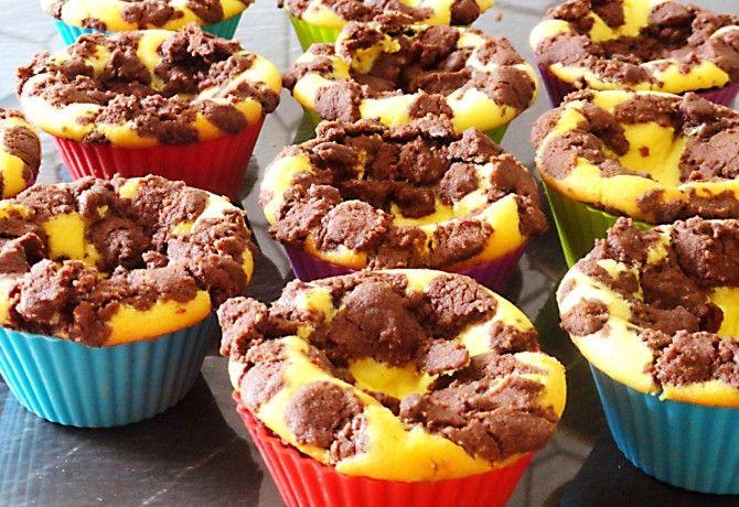 Kakaós túrós muffin