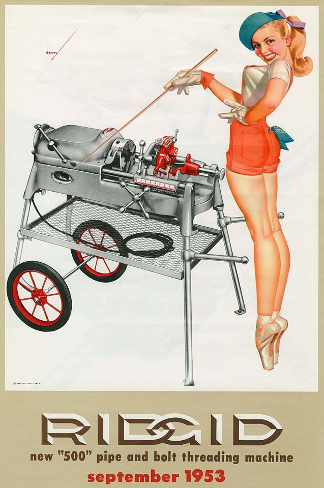 77 best ridgid images on pinterest petty girl pin up. Black Bedroom Furniture Sets. Home Design Ideas