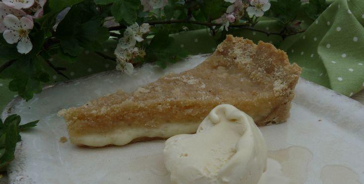 Hawthorn and Orange Knefe Dessert with Hawthorn Blossom Ice Cream