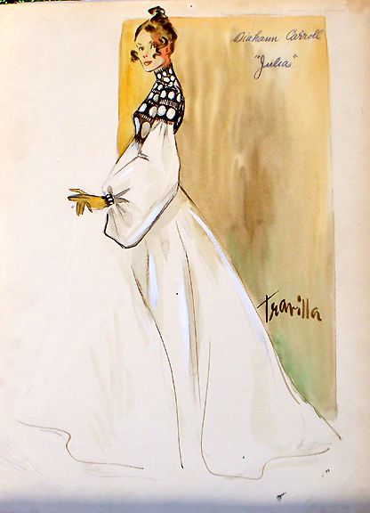 50 Years of Film and Fashion - Travilla Style- A gown that Travilla designed for Diahann Carroll as Julia