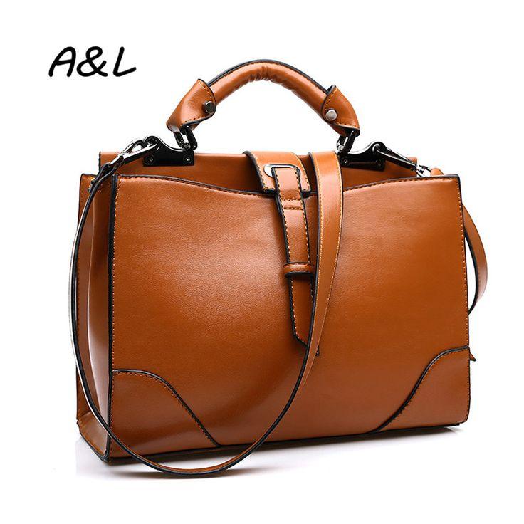 2016 Women Bag Luxury Brand Designer Shoulder Messenger Bag Vintage Casual Handbag Lady Office Business Leisure Tote Bolsa A0100