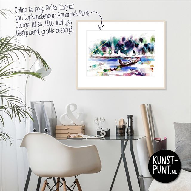 "#kunstvanpunt ""KORJAAL"" #specialedition #giclée #annemiekpunt #art now in our #gallery #ootmarsum #holland and www.kunst-punt.nl ***** #interieurstyling #schilderij #woonaccessoires #abstract #kunst #inrichting #bureau #woonkamerinspiratie #kunstkijken #kunstkopen #kunstkopenvooropkantoor"