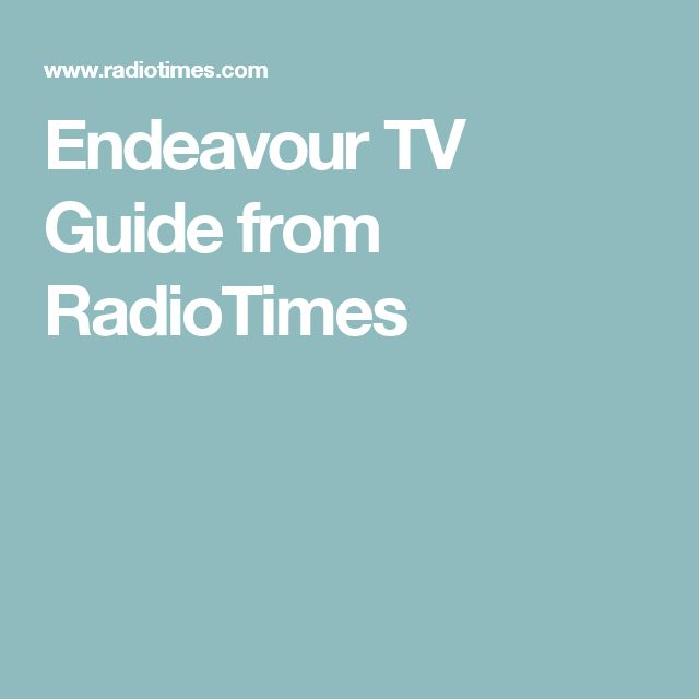 Endeavour TV Guide from RadioTimes