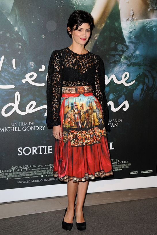 Audrey Tautou in Dolce & Gabanna