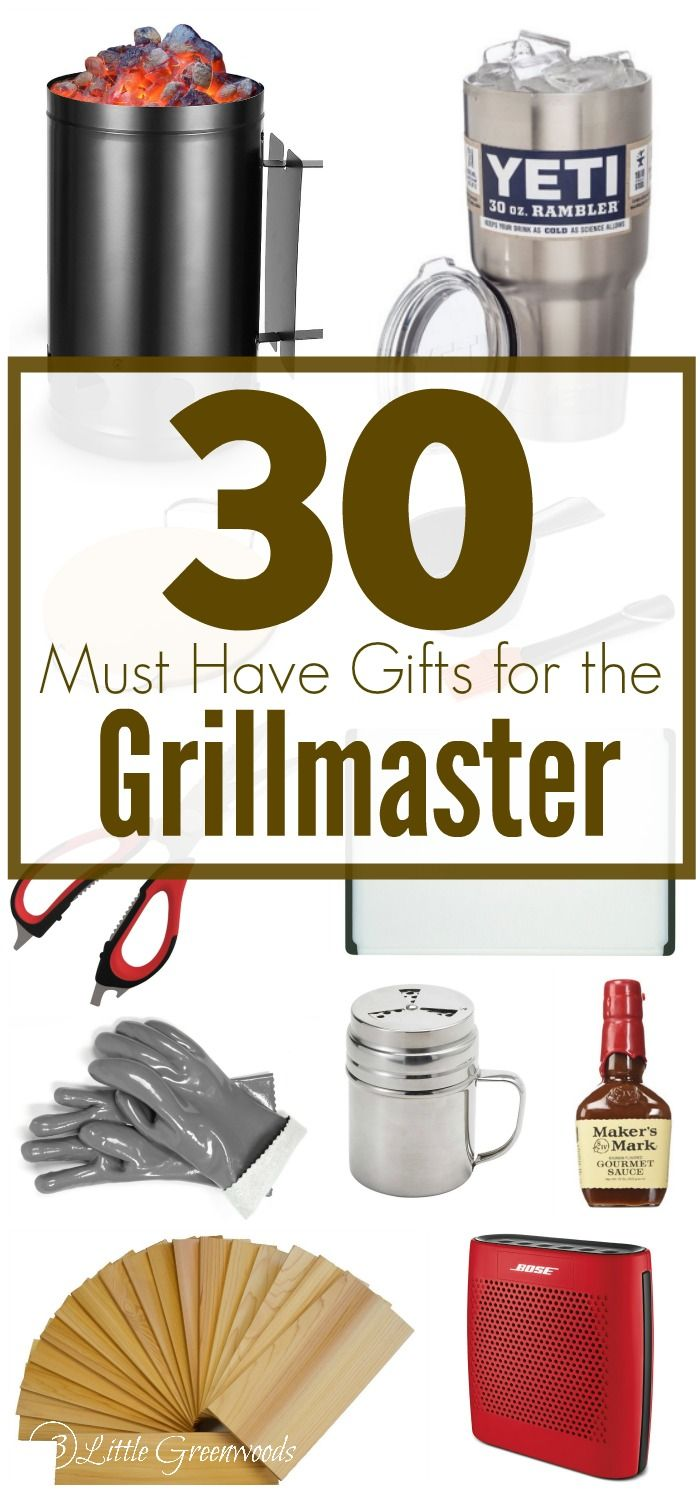 Over 30 Gift Ideas for the Grillmaster! Gift Guide for Men ~ What he REALLY want...