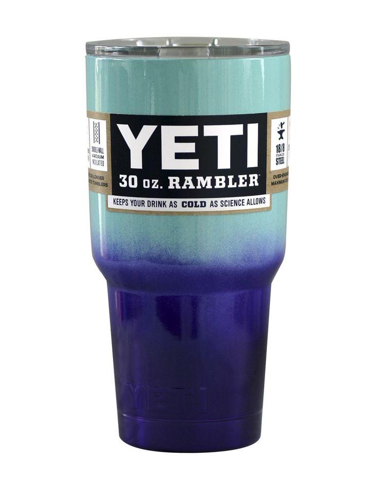 Seafoam Purple Ombre Fade Yeti 30 oz Rambler Tumbler                                                                                                                                                                                 More