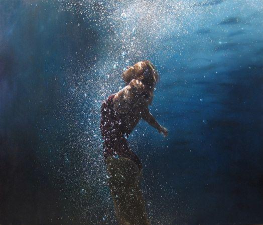 Lots of bubbles. Eric Zener's Underwater Paintings (Not Photos) - 16 Total - My Modern Metropolis