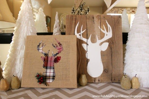 Buy an inexpensive burlap canvas, dig up an old scrap of plaid fabric, and you'll have yourself a DIY masterpiece in no time. Get the tutorial at Salt and Pepper Moms.