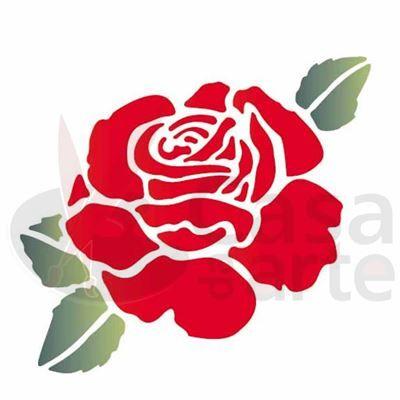 Stencil de Acetato para Pintura OPA 14 x 14 cm - 1000 Flores Rosas I - CasaDaArte