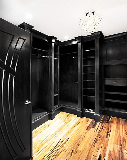 Black Painted Walk In Closet