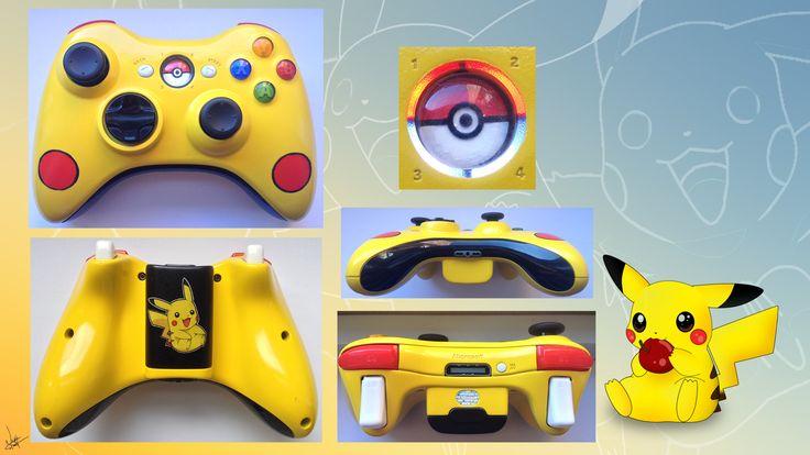 Custom Xbox Controller Pikachu from Pokemon http://www.facebook.com/itscardiology
