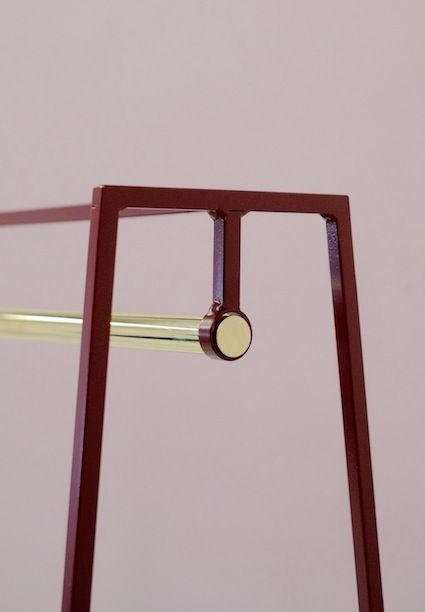Beetroot A clothes rail with solid  brass pole | #andnewfurniture | luxury clothes rail | Made in Britain.