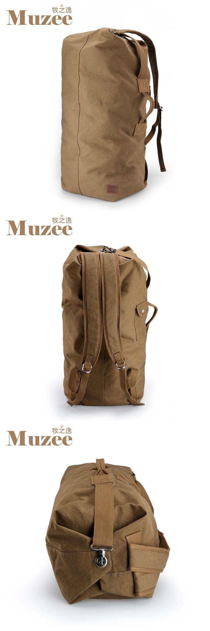 [Visit to Buy] Muzee Huge Travel Bag Large Capacity Men backpack  Canvas Weekend Bags Multifunctional Travel Bags #Advertisement