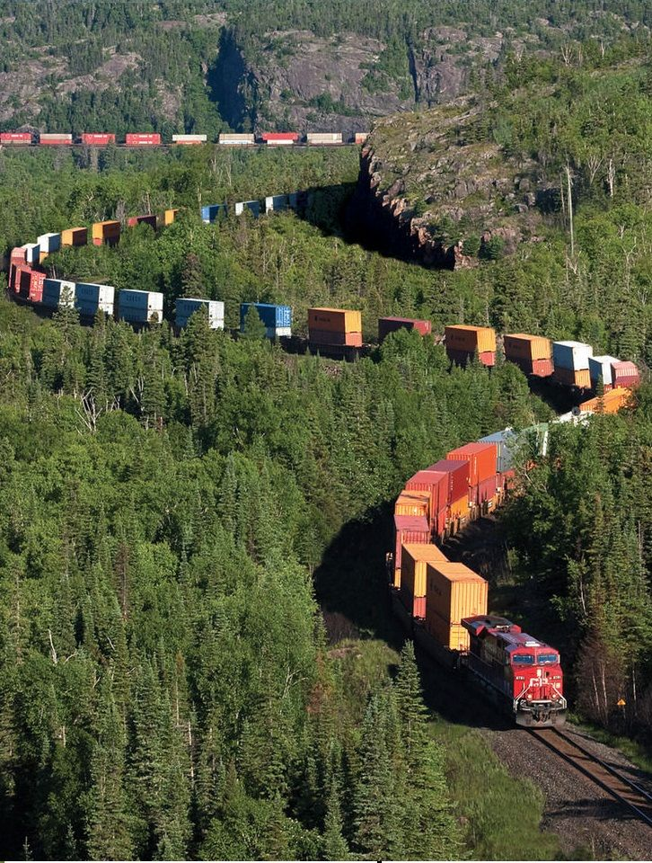 Train in Northern Ontario,Canada: