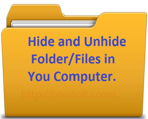 Operating systems hide these files by default, therefore you'll use this trick to cover ... a way to Show Hidden Files and Folders in Windows seven, 8, or 10