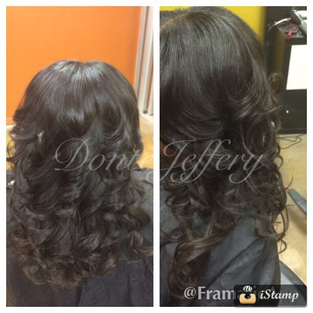 Silk extensions virgin hair curls !!