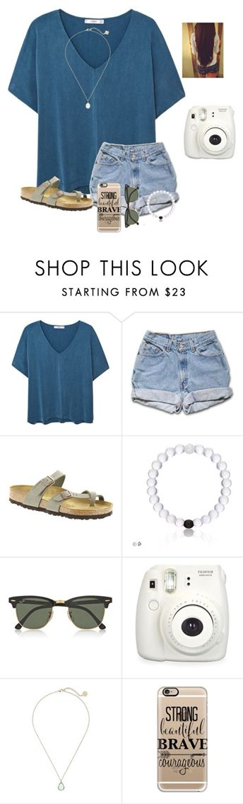 Teal t-shirt, denim shorts, grey sandals, white beaded bracelet