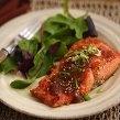 Asian Salmon - ginger, garlic, soy sauce, brown sugar, orange juice, lemon pepper