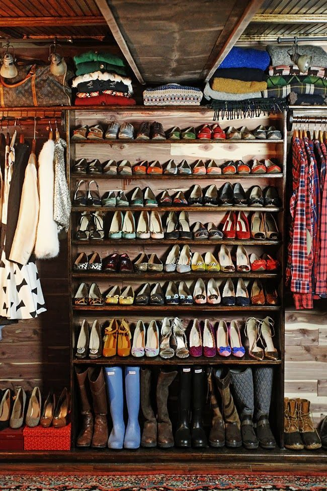 "Sarah Vicker's shoe closet from ""Classy Girls Wear Pearls"" blog"