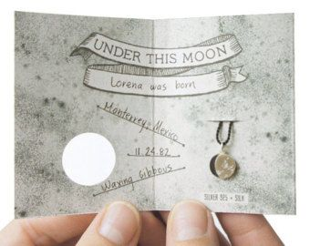 UNDER THIS MOON / Personalised Necklace moon phase by gemagenta