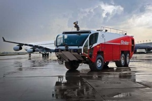 Oshkosh Airport Products Group, a division of Oshkosh Corporation, today announces the sale of 10 new generation Oshkosh® Striker® aircraft rescue and firefighting (ARFF) vehicles to Aena Aeropuertos S.A. of Madrid, Spain. The new Striker 6 x 6 models will be placed into service at Madrid Barajas International, as well as other major airports throughout the country. Delivery of the new generation Striker vehicles will begin in September 2012. The contract is valued at over 5 million Euros.