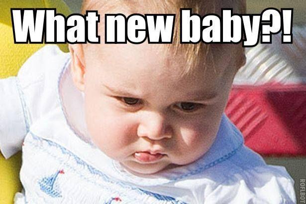 Georgie hearing the baby news...