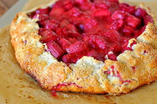 Rhubarb And Raspberry Crostata Recipe — Dishmaps