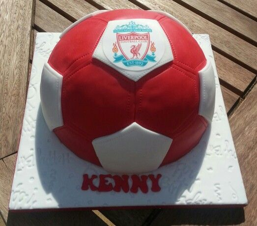 Liverpool FC themed football style cake