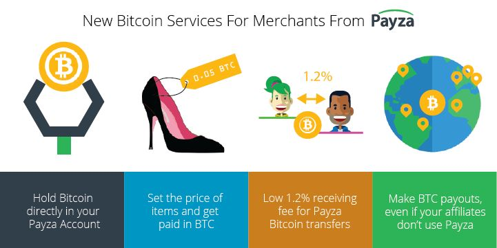Payza is proud to offer these Bitcoin services for our merchants! As a merchant, there are several ways to take advantage of Payza's new Bitcoin features.