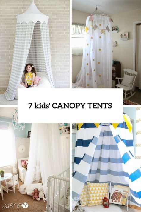 7 Easy And Cool Diy Kids Canopy Tents For Indoors Shelterness