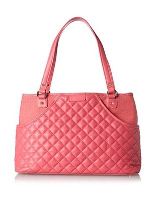 53% OFF J. McLaughlin Women's Remington Quilted Leather Tote, Lipstick