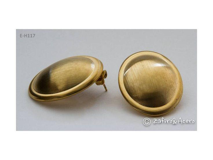 Aretes ovalados dorados mate