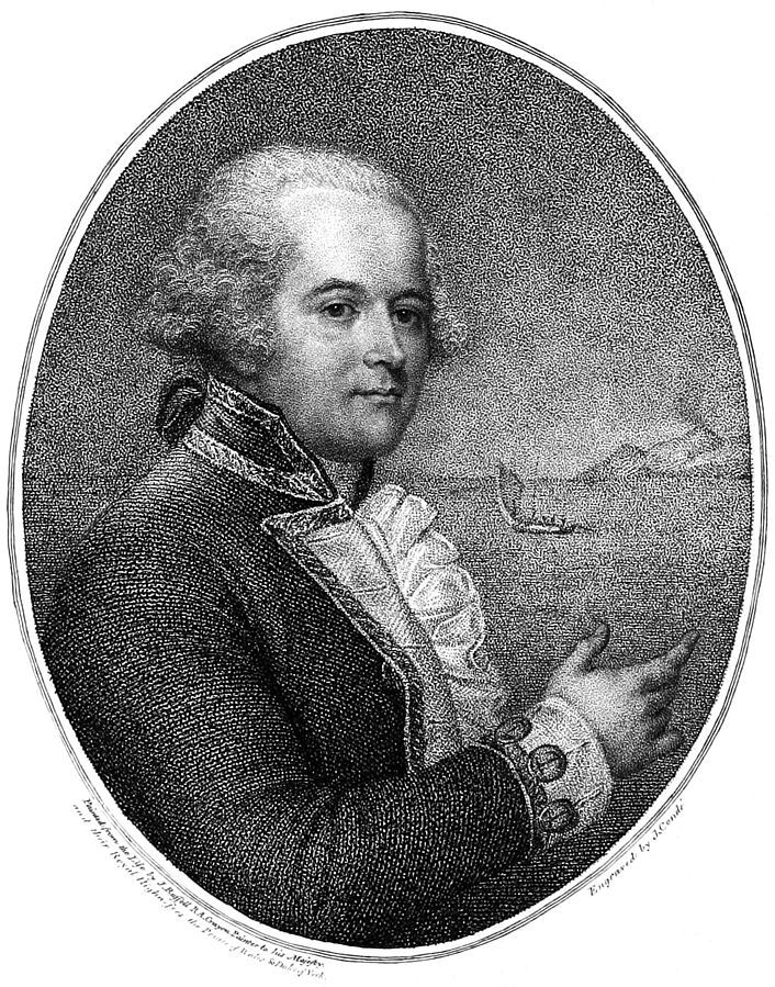 December 7, 1817: Death of William Bligh. He's best-known in connection with the 1789 mutiny on the HMS Bounty, but that was not Bligh's only brush with disaster. Earlier, he had been a member of Captain Cook's last -- and fatal -- voyage. In 1797, he was one of the captains subject to the Spithead Mutiny. And, in while Governor of New South Wales, a conflict between Bligh and the colonists resulted in the Rum Rebellion of 1808. This portrait is from Bligh's book about the Bounty Mutiny.