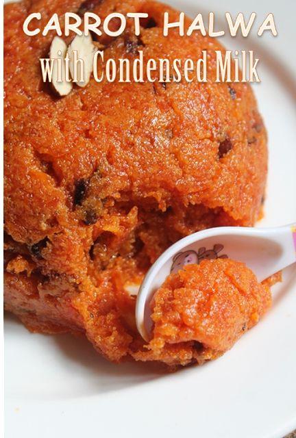 YUMMY TUMMY: Carrot Halwa Recipe - Gajar Ka Halwa using Condensed Milk