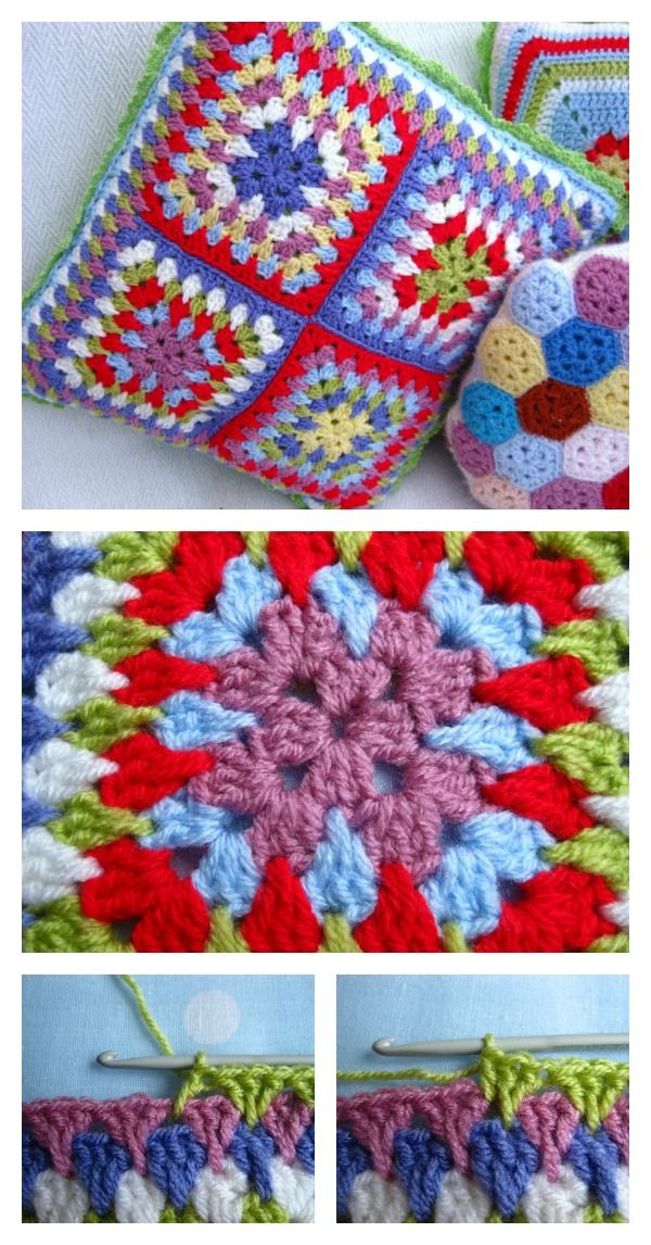 Crochet Spiky Stitch Granny Square Free Pattern