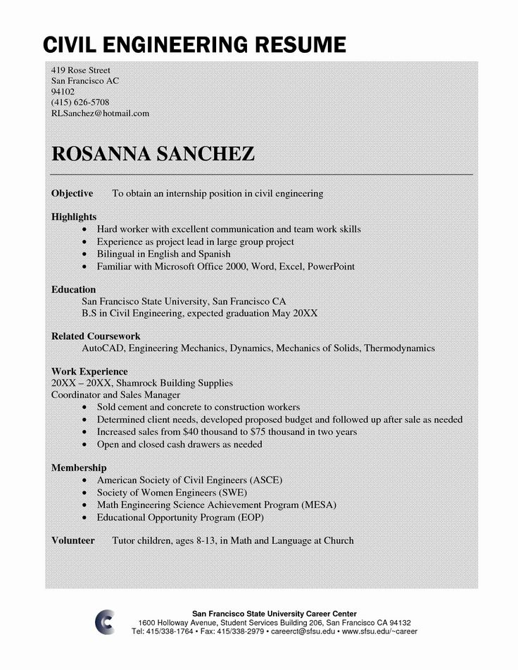 Civil Engineer Resume Sample Fresh Civil Engineer Resume