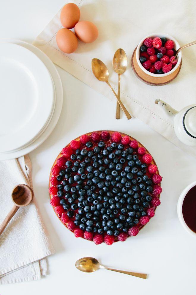 Berry Almond Yogurt Cake